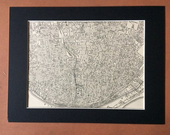 1937 ST LOUIS (Central) Original Vintage City Plan Map, 11 x 14 inches, Rand McNally Map - Missouri - Available Mounted and Matted