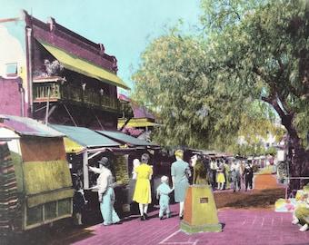 1945 Olivera Street, A Little Bit of Old Mexico in the heart of Los Angeles Original Vintage Photo Print - LA - California - Retro Decor