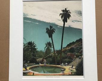 1943 Palm Springs Original Vintage Photo Print - California - Retro Decor - Available Framed