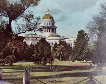 1944 State Capitol, Sacramento Original Vintage Photo Print - California - Mounted and Matted - Available Framed