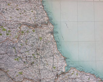 1898 Newcastle Large Original Antique Ordnance Survey Map - City Plan - England - Britain - Cartography - Gift Idea - Local History