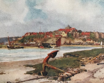 1907 Rye Original Antique Print - Mounted and Matted - Available Framed - Sussex - England