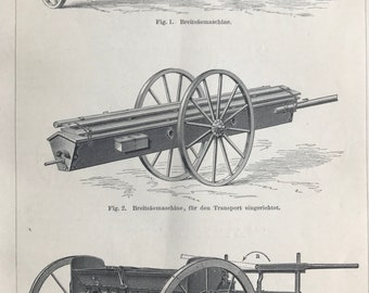 1897 Seeder Machines Original Antique Lithograph - Mounted and Matted - Victorian Technology - Vintage Wall Decor - Available Framed