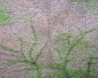 1903 SALISBURY Large Original Antique Map, 17.5 x 23 inches, historical wall decor, Bartholomew map, Home Decor, Cartography