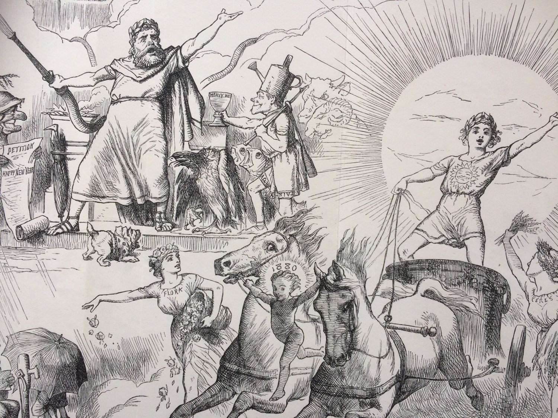 1880 Jupiter Pluvius A Damp Deputation Large Original