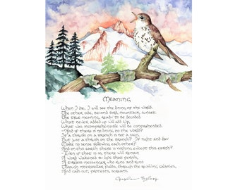 Meaning (Czeslaw Milosz): 8.5x11 Fine Art Print featuring artwork from Letter No. 26