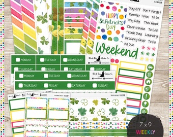 K-028 Weekly Kit - St. Patrick's Day - Planner Stickers