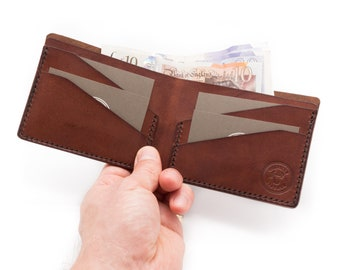 Handmade leather bifold wallet, mens leather wallet, leather wallet, Gift
