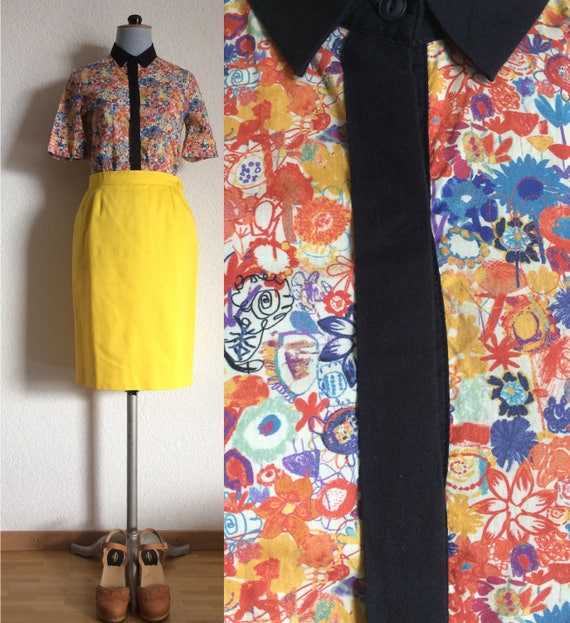 Vintage Summer Liberty Shirt/ Short Sleeves / Sess