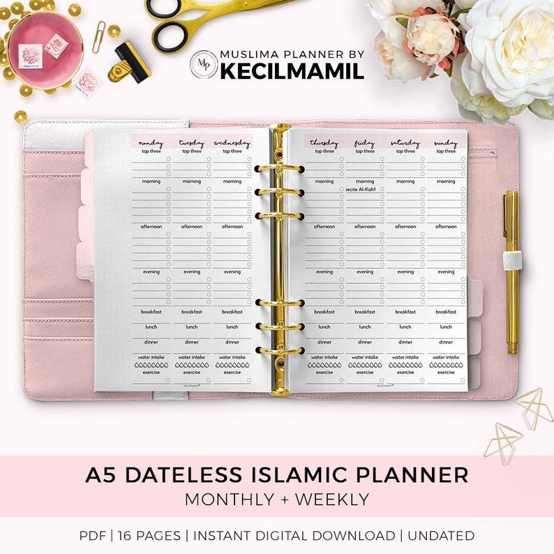 ISLAMIC PLANNER by Kecilmamil A5 Size for 1 Month  Dateless image 0