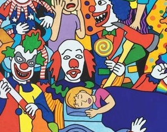 Postcard Series: Food, Pugs, Clowns, Monsters, Animal Fashionistas, and Synesthesia!