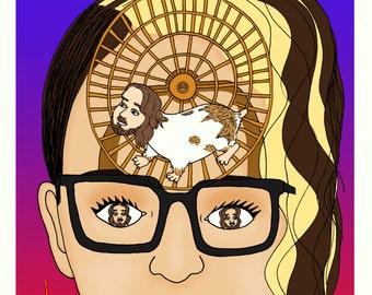 Zine- Hamster Wheel Brain