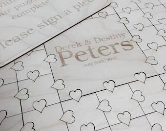 50-300 piece Puzzle Guest Book Wedding Guest Book Alternative Alternative Guest Book Hearts GuestBook Unique Guestbook Wedding Book Heart