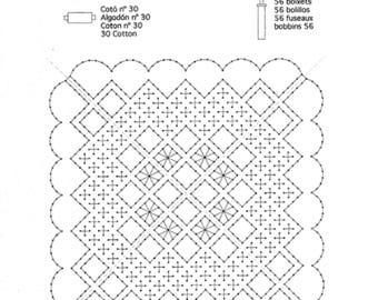 Pattern, chopped EASY PATTERNS start. To learn. 5 pages. handkerchiefs maximum 64 bolillos