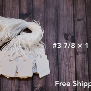 1000 Price Tags for Antiques with Strings Size #5 1 1//16 × 1 3//4