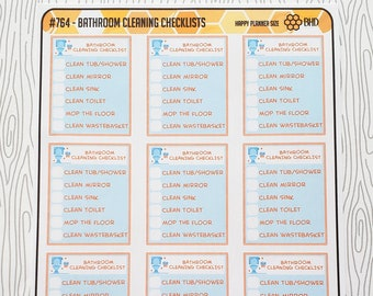Bathroom Cleaning Checklists (Set of 12) Item #764