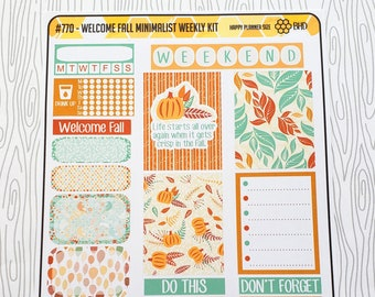 Welcome Fall Minimialist Weekly Kit (Set of 32) Item #770