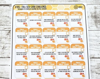 Fall Self Care Challenge (Set of 30) Item #105