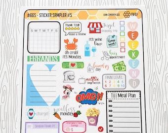 Sticker Sampler #5 (Set of 44) Item #665