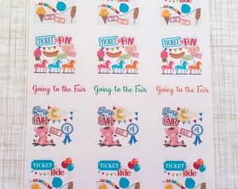 Fair // Fun At The Fair Stickers (Set of 21) Item #288