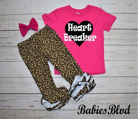Valentine S Day Outfit Girl Baby Girl Valentines Day Etsy