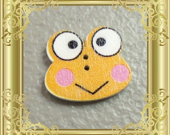 Cross Stitch Needle Minder - Orange Frog