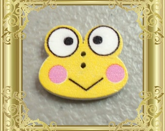 Cross Stitch Needle Minder - Yellow Frog