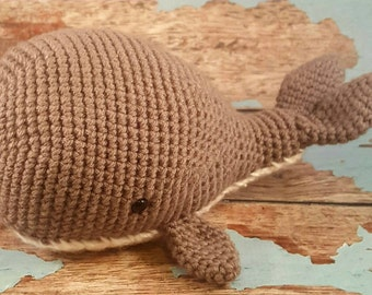 Whale Plushie - Whale Stuffed Toys - Beach Themed Nursery - Nautical Themed Nursery - Whale toys -  Whale Baby Toys - Whale Toddler Toys