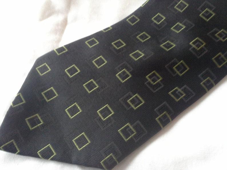 Sharp FUBU tie black on black and light olive vintage