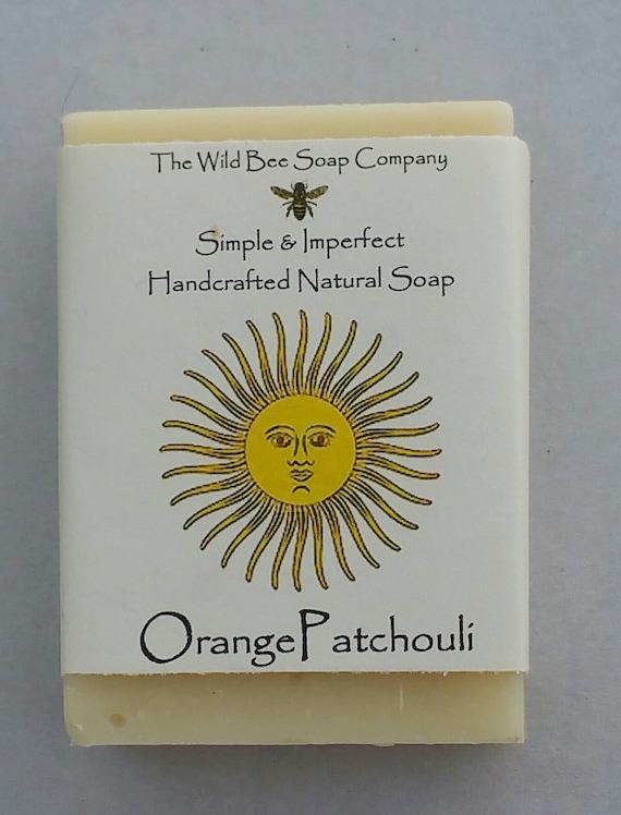 Orange & Patchouli savon, savon de bain, savon, savon, savon Orange, Patchouli savon, savon naturel, soins de la peau, savon végétalien, fait à la main
