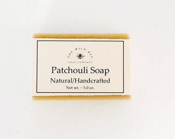 Soap, Patchouli Soap, Handcrafted Soap, Natural Soap, Cold Process Soap, Patchouli, Bar Soap, Palm Free Soap, Vegan Soap, Gift