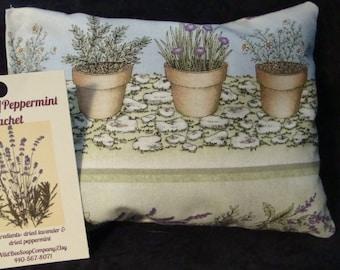 Lavender & Peppermint Sachet, Herbal Sachet, Herbal Pillow, Aromatherapy, Herbs, Essential oils, Peppermint, Lavender, Scented Sachet