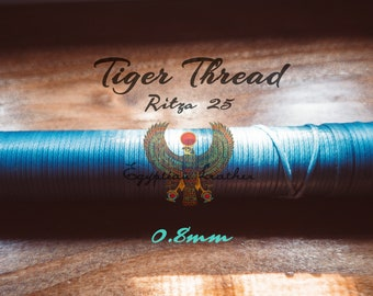 0.8mm - Tiger Thread Ritza 25 - Free Shipping Lowest Price - Waxed Braided Polyester - Leather Hand Sewing & Stitching - Custom Spooled USA