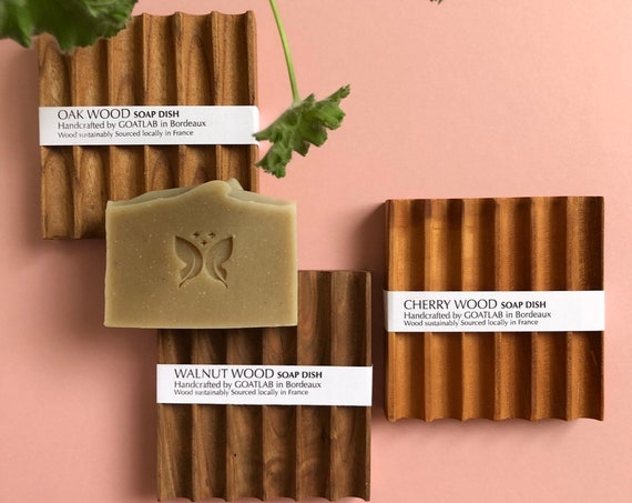 Luxurious Wooden Soap Dishes - Cherry, Oak and Wanut