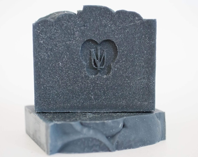 Featured listing image: BLACK VELVET - Cold Process Organic Soap - Activated Bamboo Charcoal
