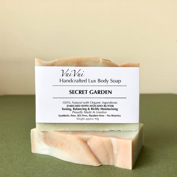 SECRET GARDEN - Cold Process Organic Soap - Avocado Butter