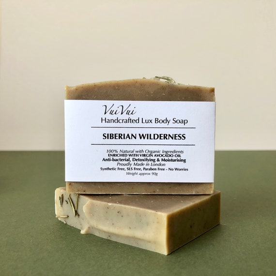 SIBERIAN WILDERNESS - Cold Process Organic Soap - Virgin Avocado Oil