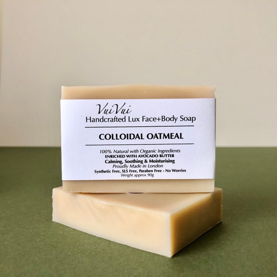 COLLOIDAL OATMEAL  - Cold Process Organic Soap - Avocado Butter