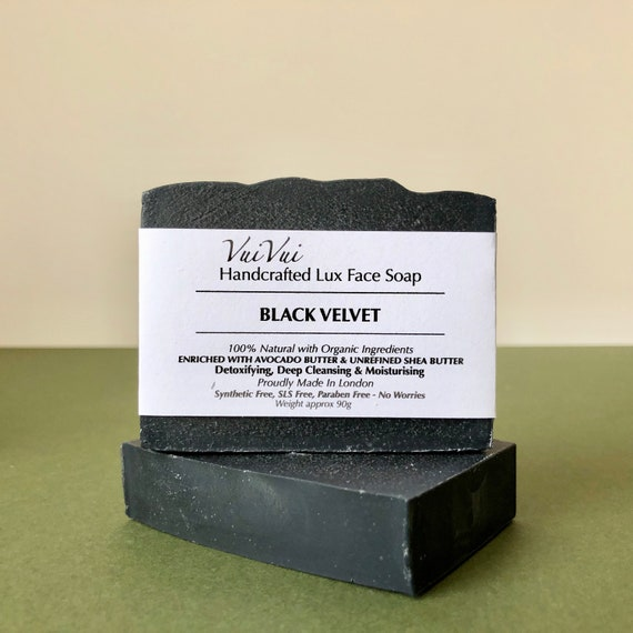 New Stock - BLACK VELVET - Cold Process Organic Soap - Activated Bamboo Charcoal
