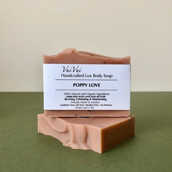 POPPY LOVE - Cold Process Organic Soap - Avocado Butter