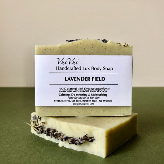 LAVENDER FIELD - Cold Process Organic Soap - Virgin Avocado Oil