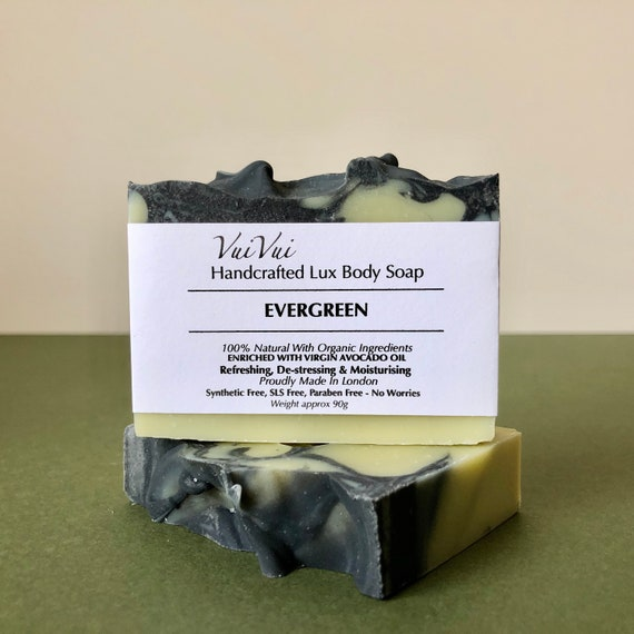 EVERGREEN - Cold Process Organic Soap - Virgin Avocado Oil