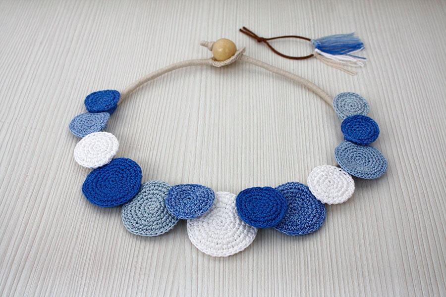 Collar círculos collar Crochet collar declaración moda de | Etsy
