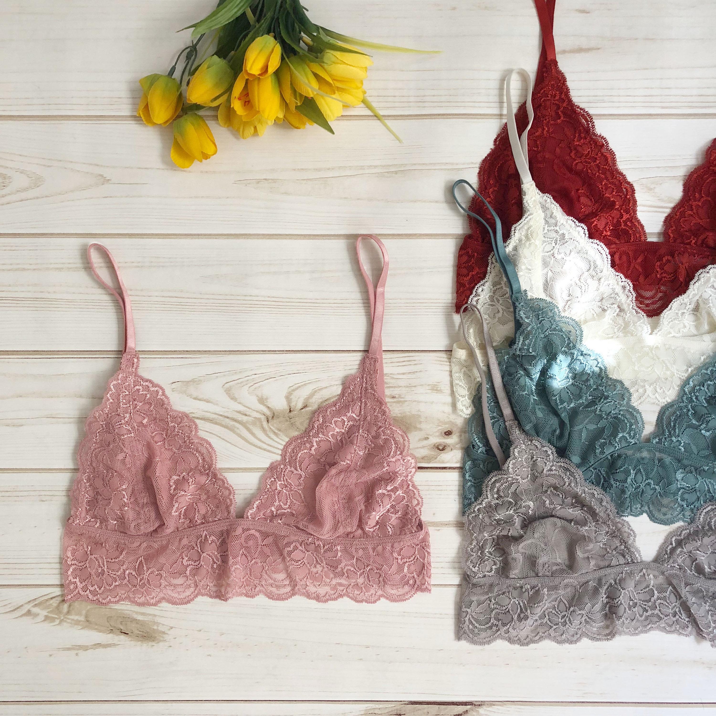 70780d84d0295 Beautiful LACE BRALETTE floral lace bra lacy bralette wavy hem