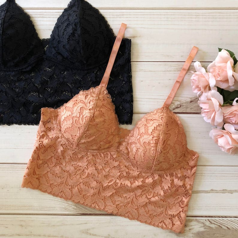 836c6aa8f67 Lace V Neck Padded Bralette Cami Top many colors lacy top | Etsy