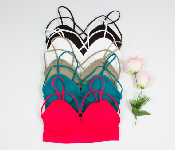 8012b55cb3508 Cage Active Bralette Bra many colors crop top active