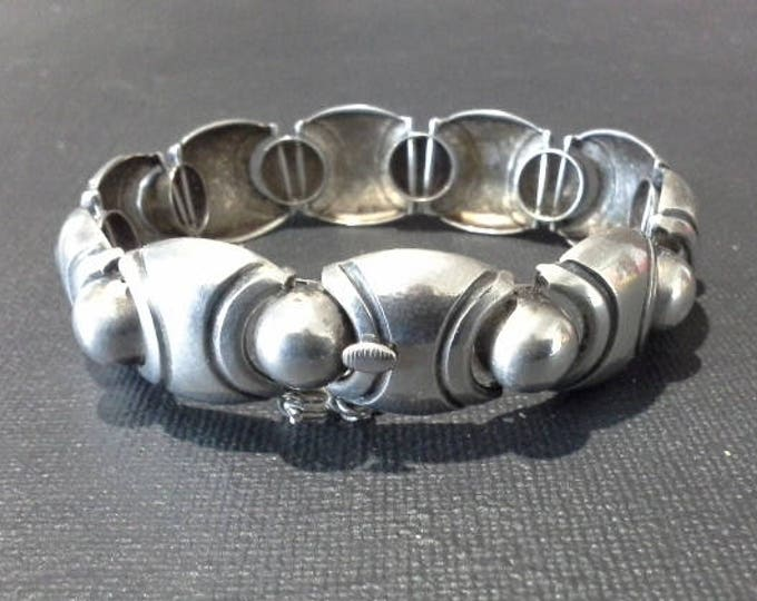 Superb WMF Art Deco Modernist Silver Bracelet Wurrtembergische Metallwaren Fabrik Germany