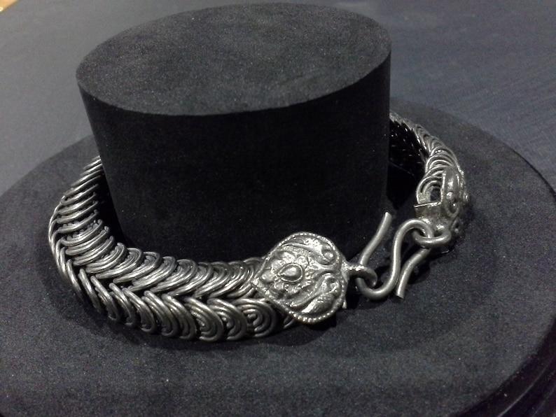 Vintage Silver Snake Serpent Bracelet Handmade Oriental Indian image 0