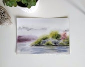 Original watercolor painting-view from Blekholmen, Stockholm Sweden