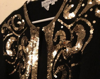 1990's Vintage Gold Sequin Sweater